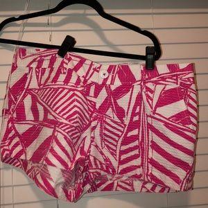illy pulitzer hot pink shorts